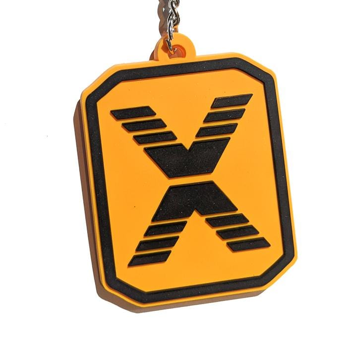 State Of Flux Logo Keychain in yellow