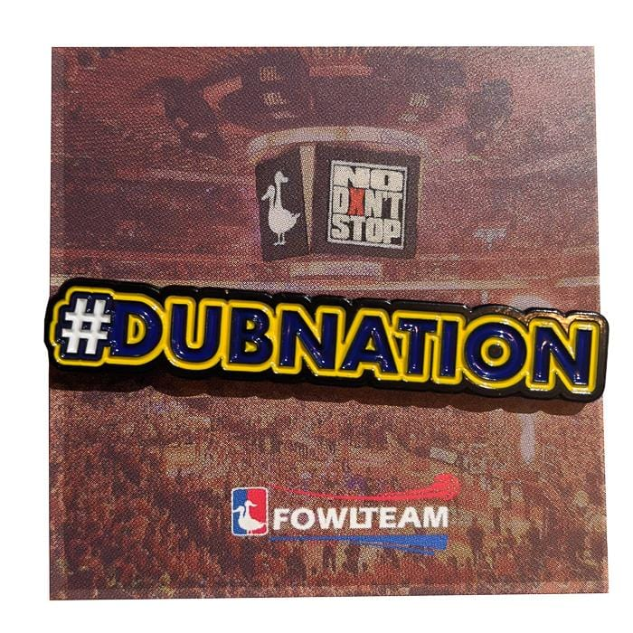 Dubnation Pin in blue and yellow