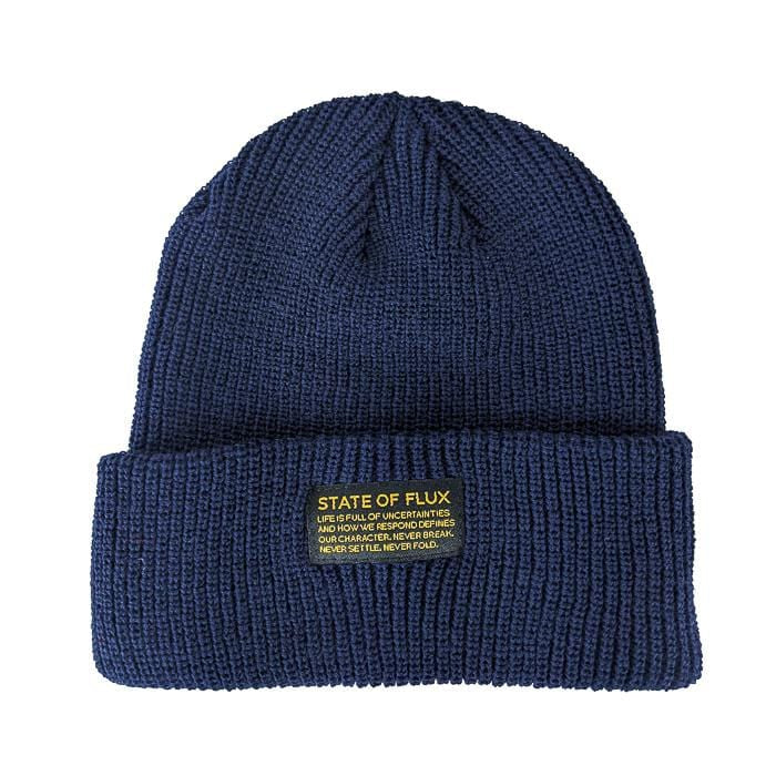 Knitted Mantra Beanie in navy