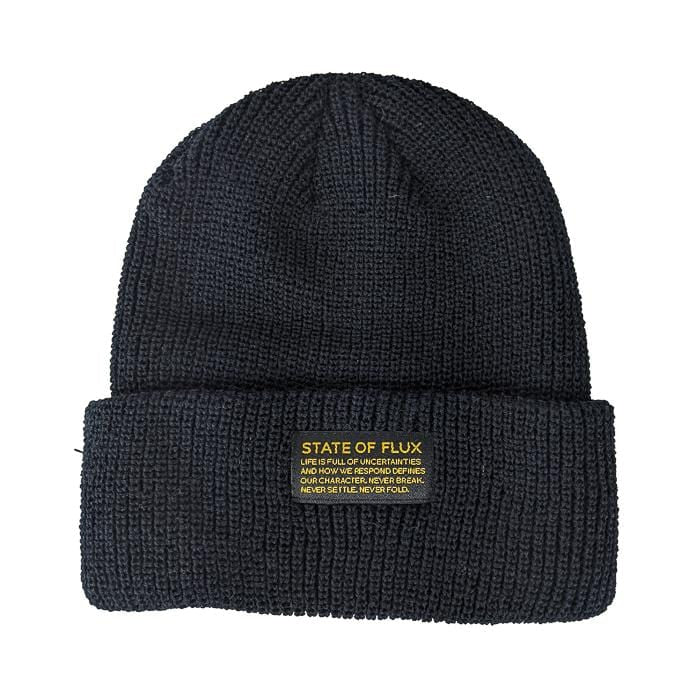 Knitted Mantra Beanie in black