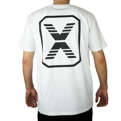 State Of Flux Logo Tee in white and black