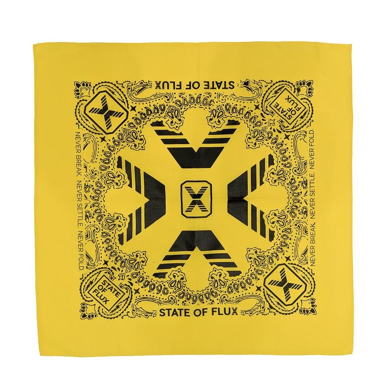 State Of Flux Bandana in yellow and black
