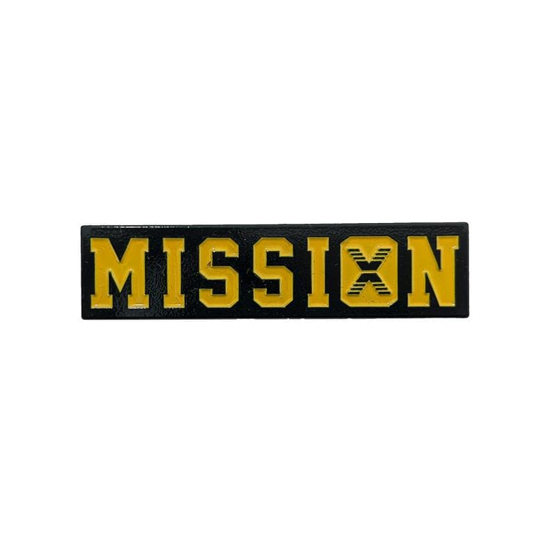 Still On A Mission Pin in yellow and black
