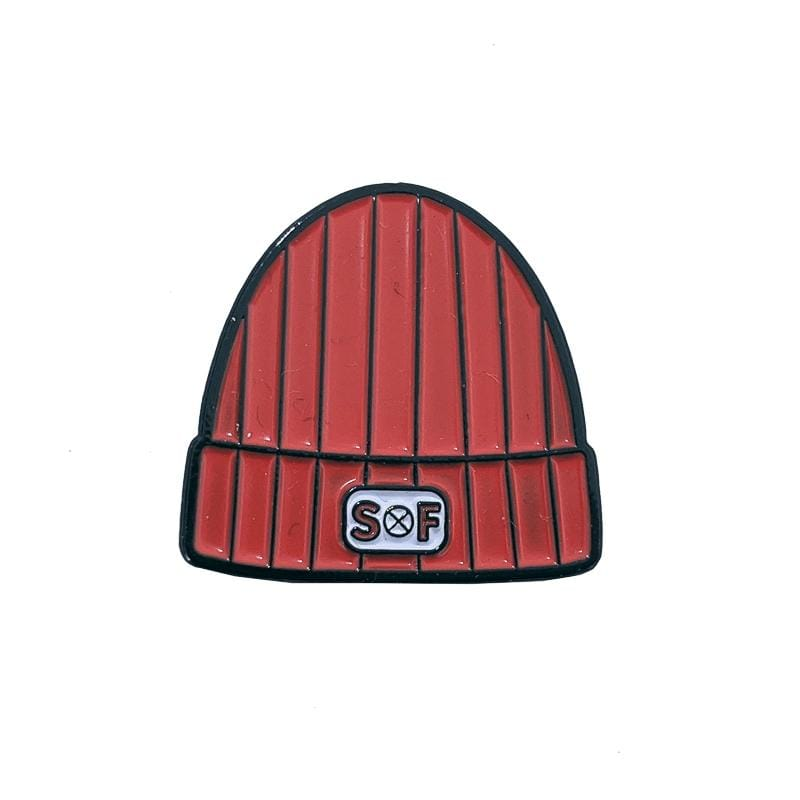 SOF Beanie Pin in red
