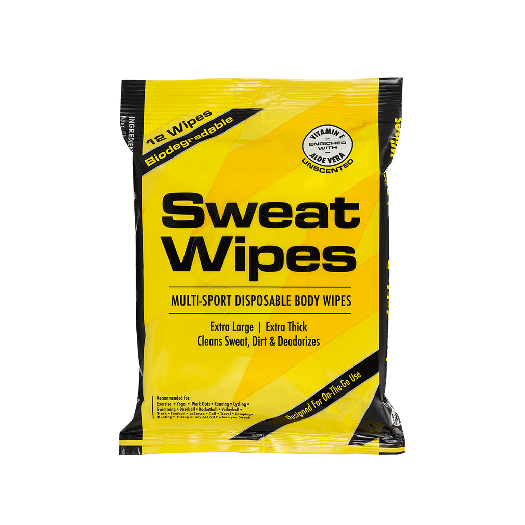 Biodegradable Sweat Wipes (Unscented) - SweatZone (NEW)