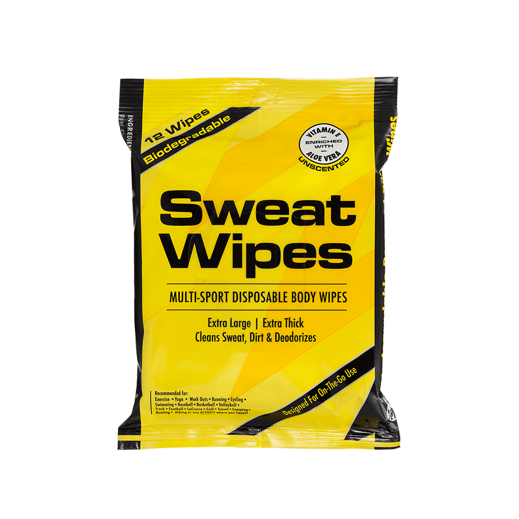 Biodegradable Sweat Wipes (Unscented) SweatZone