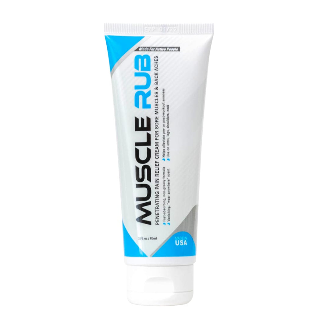 Muscle Rub - Topical Relief Gel 3 oz Near Odorless Formula by MedZone SweatZone