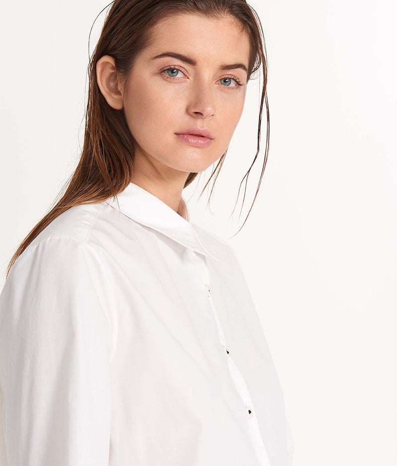 The Button Down Shirt White