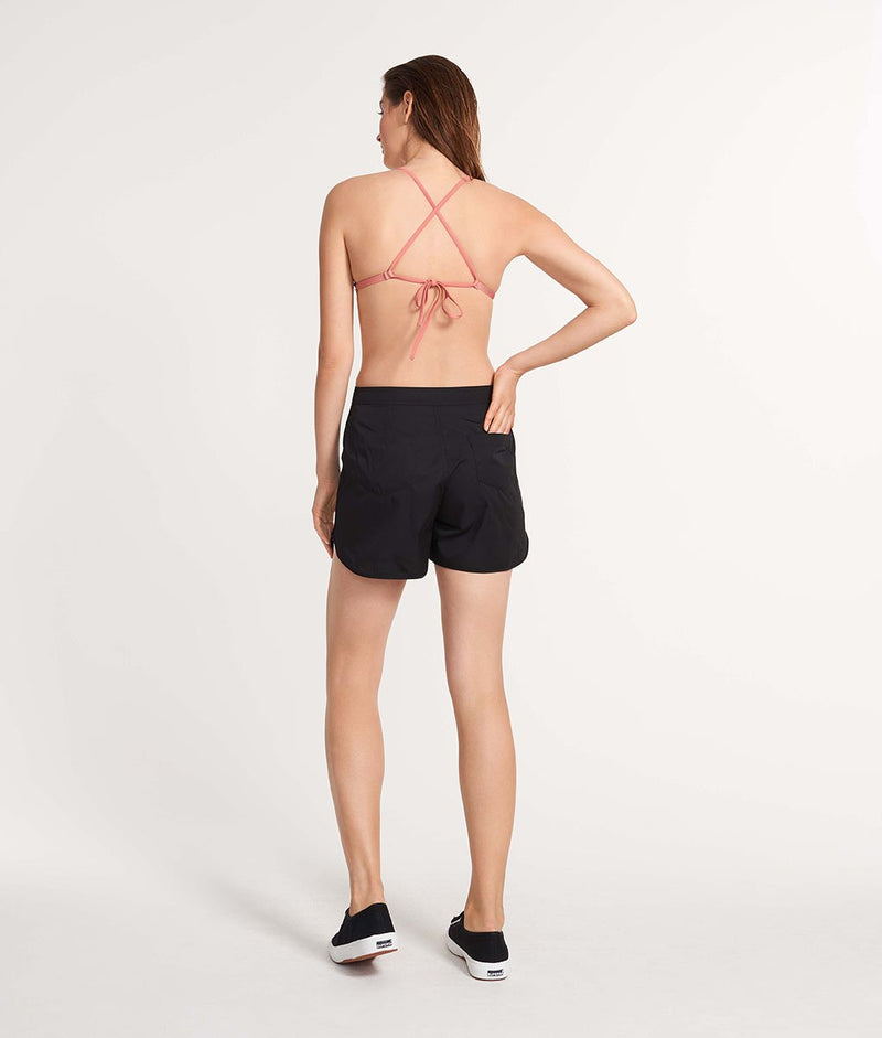 The Long Board Short Black/Brown