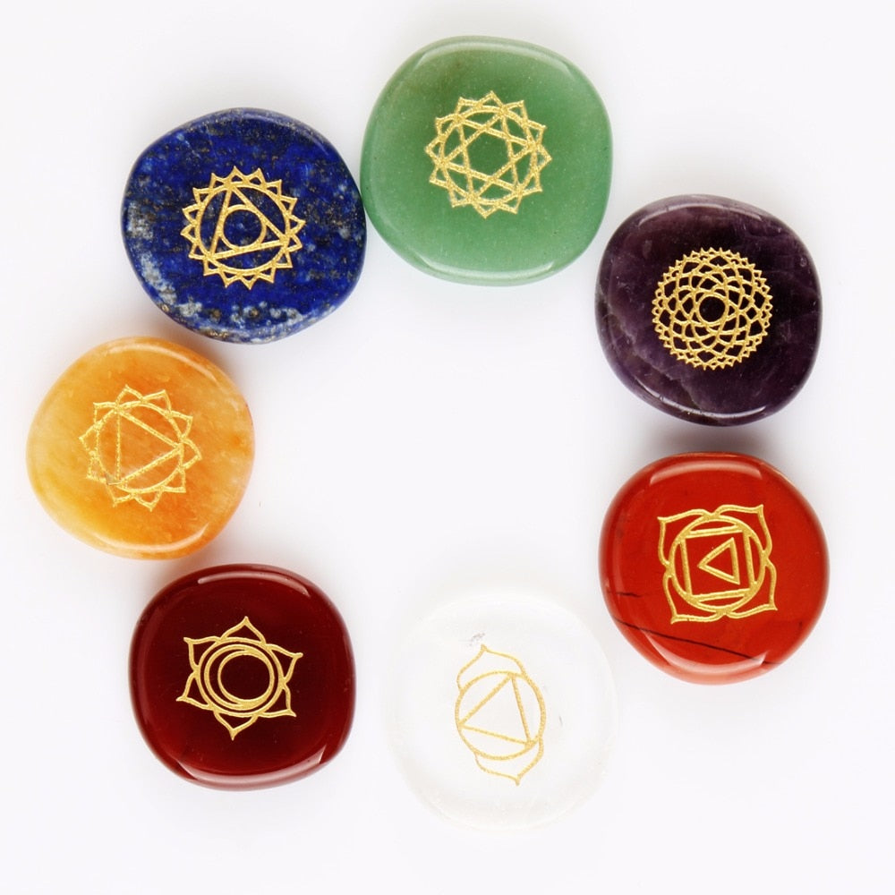 7pcs Natural Engraved Stones - Positively Souled