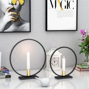 Round Nordic Black Candle Holder - Positively Souled
