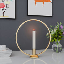 Load image into Gallery viewer, Round Nordic Black Candle Holder - Positively Souled