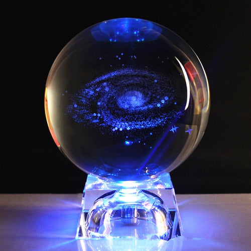 3D Laser Engraved Galaxy Crystal Ball - Positively Souled