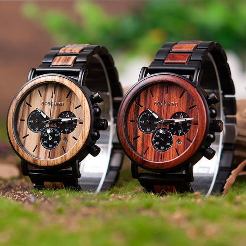 Stylish Wooden Timepiece w/ Gift Box