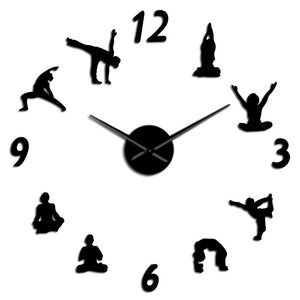 Yoga Wall Clock Mirror - Positively Souled