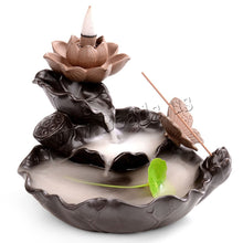 Load image into Gallery viewer, Ceramic Lotus Incense Burner - Positively Souled