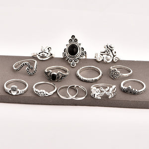 Retro Joint Ring Combination Set