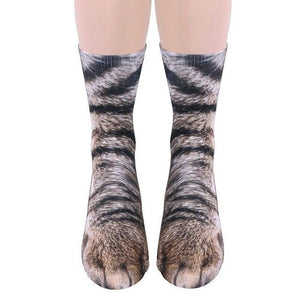 Adult Animal Paw Crew Socks - Positively Souled