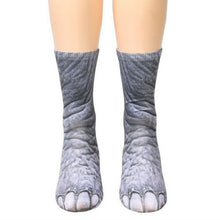 Load image into Gallery viewer, Adult Animal Paw Crew Socks - Positively Souled