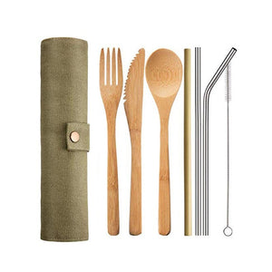 Reusable Bamboo Cutlery Set - Positively Souled