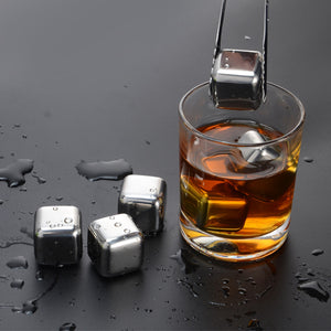 Stainless Steel Reusable Whiskey Stone Ice Cubes - Positively Souled