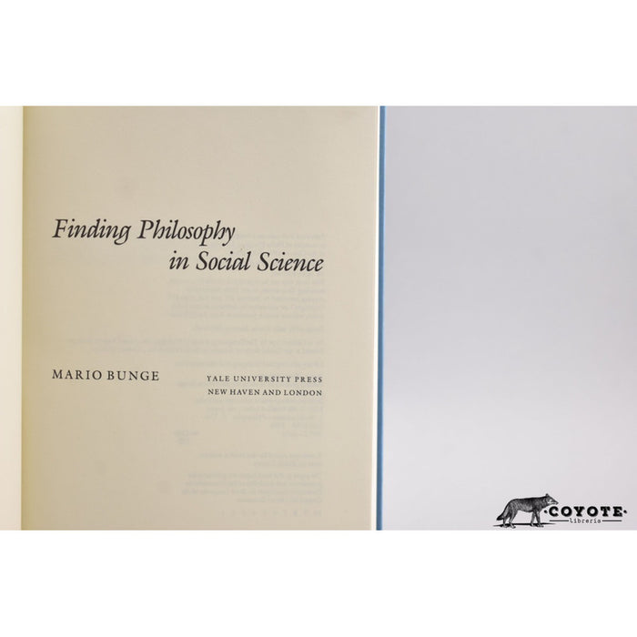 Finding Philosophy In Social Science - Bunge [coyote]