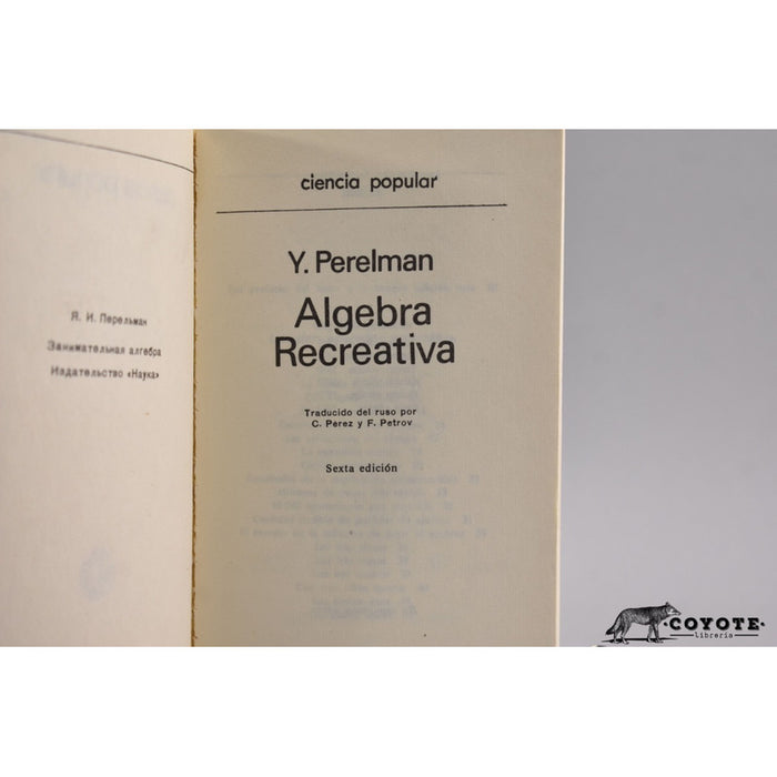 Álgebra recreativa - Perelman [coyote]