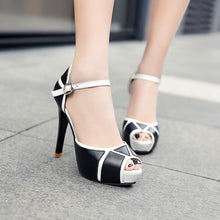 Load image into Gallery viewer, New Fashion Women Shoes Summer New Open Toe Fish Head Fashion High Heels Wedge Sandals