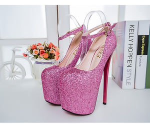 2018 Women High Heels 20cm Fashion Shoes Party Shoes Large Size 34-47