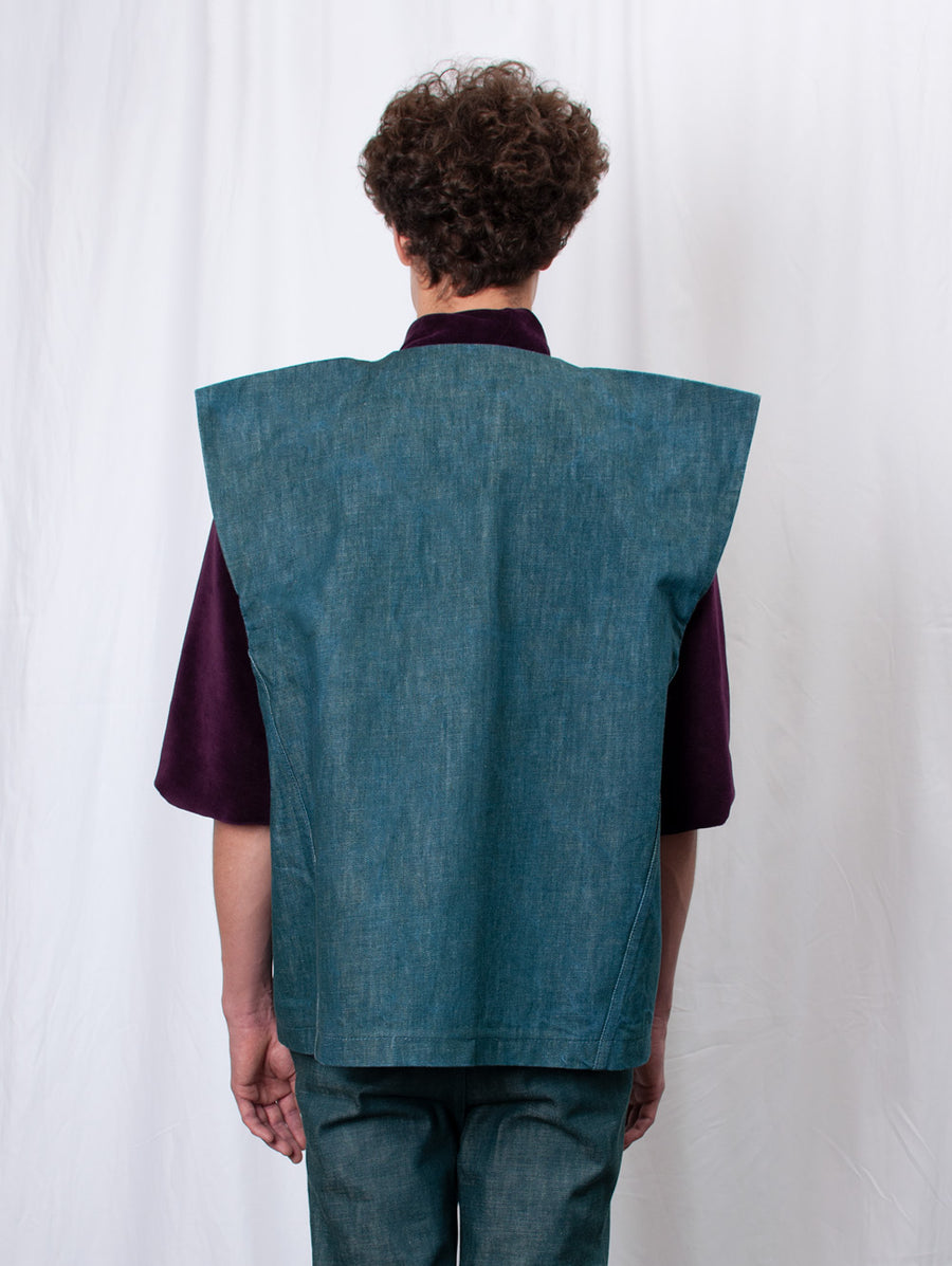 Denim Vest with Wings