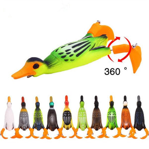 3D Duck Soft Fishing Lure Floating Baits