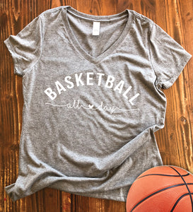 Basketball All Day Graphic Tee