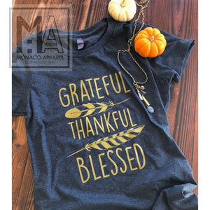 Grateful Thankful Blessed Tee