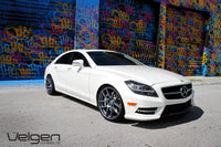 Mercedes CLS550 lowered on Velgen VMB5 Matte Gunmetal