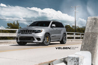 Jeep Trackhawk  Lowered Eibach Suspension   Velgen Wheels Light Weight Series. VF5 Gloss Gunmetal  20x10.5 with 295-45-20 Conti