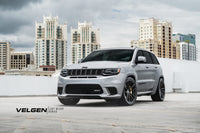 Jeep Grand Cherokee Trackhawk / 707hp / Suspension Eibach / Velgen Light Weight Series VF5 Satin Black 22x10.5 / 305-35-22 Michelin tires