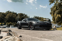 Chevy Corvette Grand Sport   / Lowered / Velgen Forged SL-10 Satin Balck Center / Gloss Black Lip  20x10 & 20x12