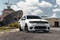 Jeep Grand Cherokee Trackhawk  950 HP  Lowered Eibachs  Velgen Light Weight Series VF5 Gloss Black  20x10.5 all around with Nitto 305-35-20 Drag Radials all around