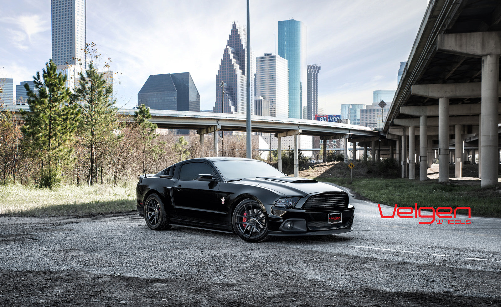 1-Ford Mustang GT 5.0 on Velgen Wheels