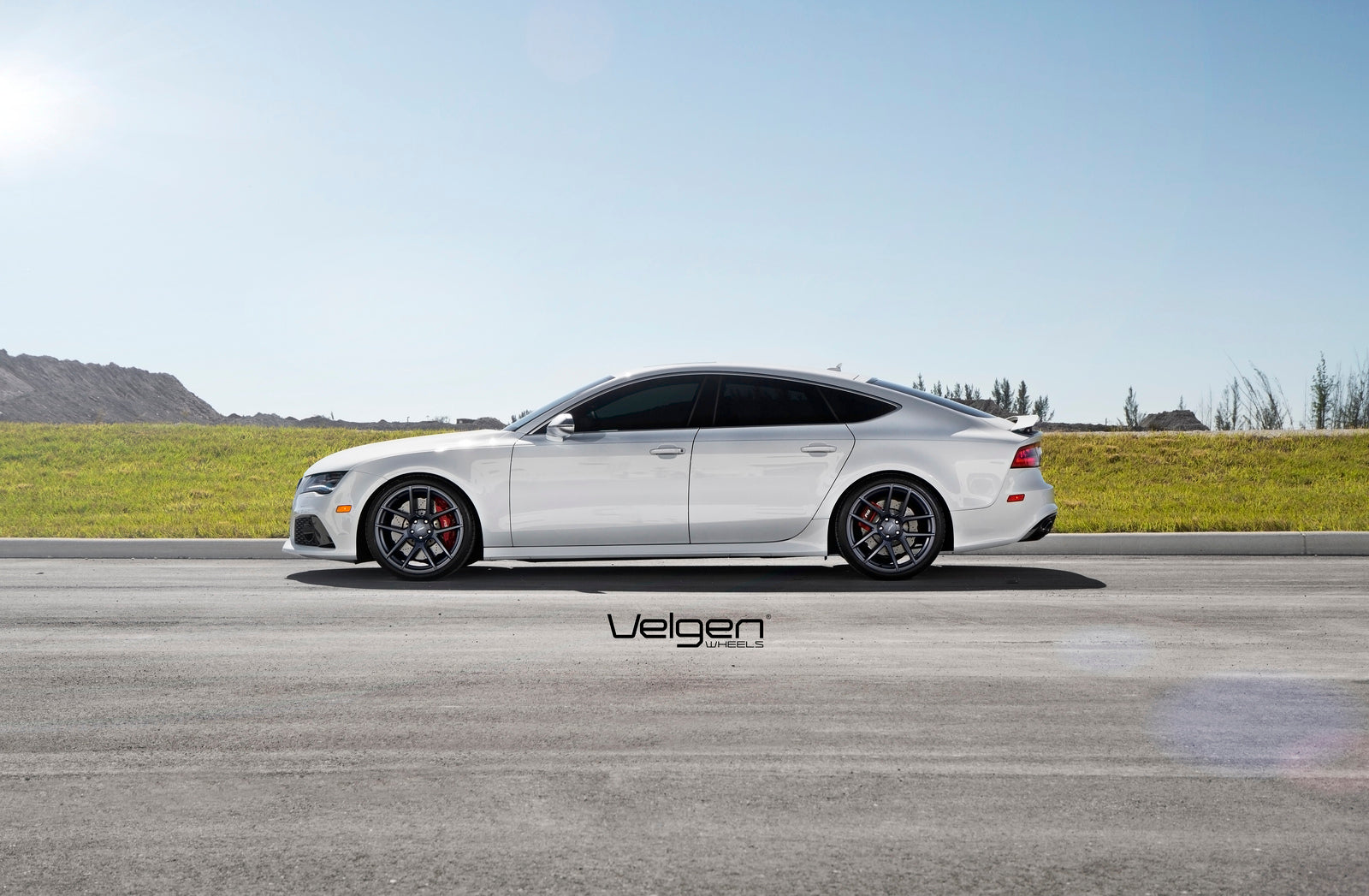 Ibis White AUDI RS7 VELGEN WHEELS VMB5