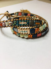 Load image into Gallery viewer, Triple wrap ladder bracelet
