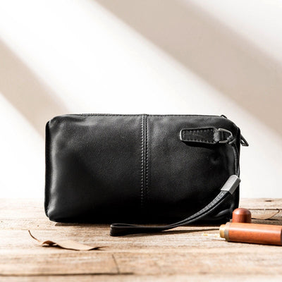 Pochette cuir homme