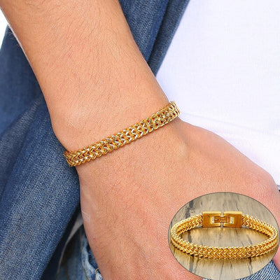 Chaine homme bracelet or
