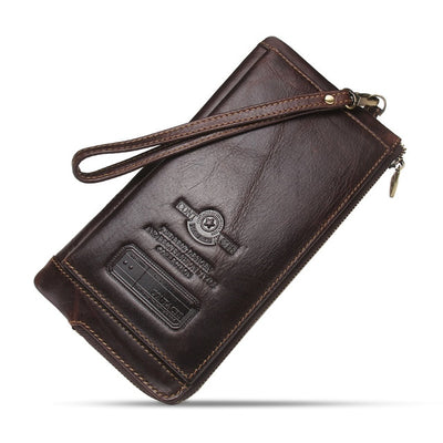 Grand portefeuille homme cuir marron
