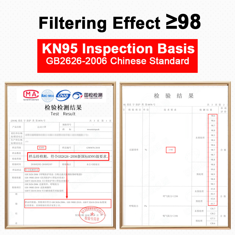 Breathable Cycling Face Mask with N95 Filter