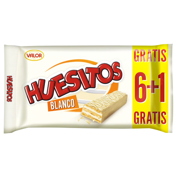HUESITOS con chocolate blanco 6+1.