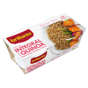 BRILLANTE. Arroz integral con quinoa. 2 x 125 gr.