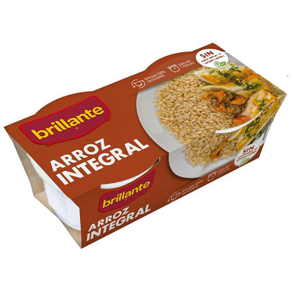 BRILLANTE. Arroz integral. 2 x 125 gr.