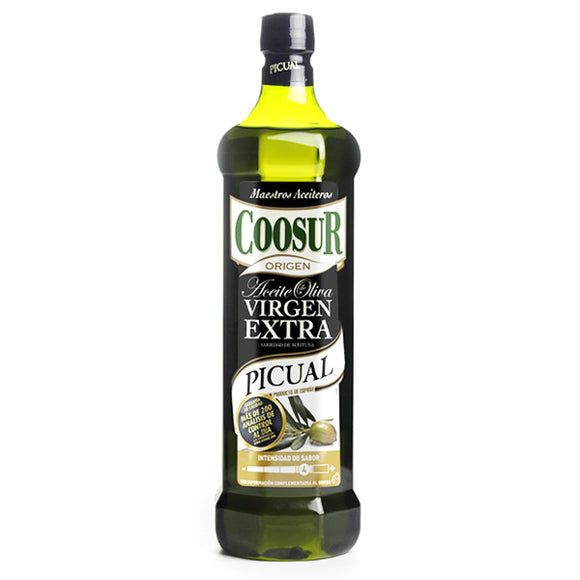 COOSUR. Aceite de oliva virgen extra Picual intenso. 1 L.