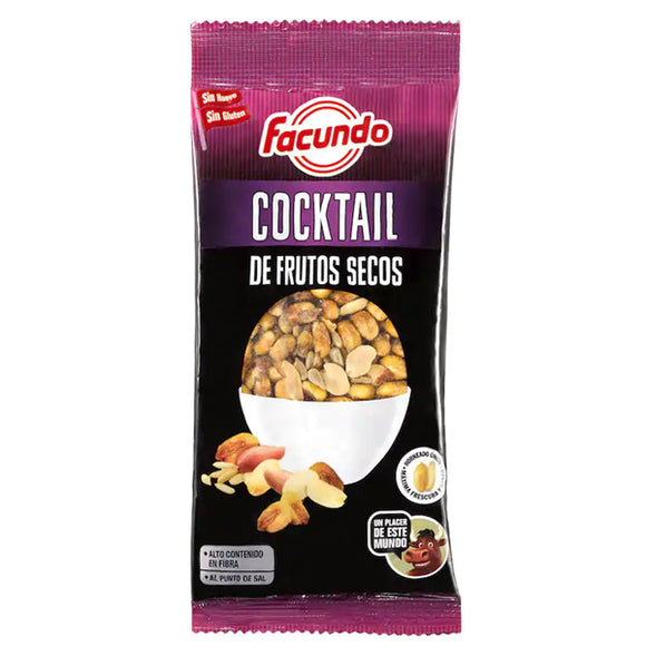 FACUNDO. Cocktail de frutos secos fritos. 170 gr.